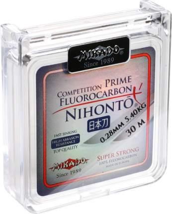 Леска флюрокарбоновая Mikado Nihonto Fluorocarbon Prime 0,3 мм, 30 м, 6,15 кг