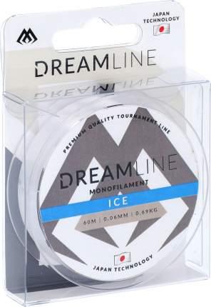 Леска монофильная Mikado Dream Line Ice 0,1 мм, 60 м, 2,06 кг