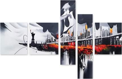 Картина модульная на холсте Модулка Мост в Нью-Йорке 90х65 см