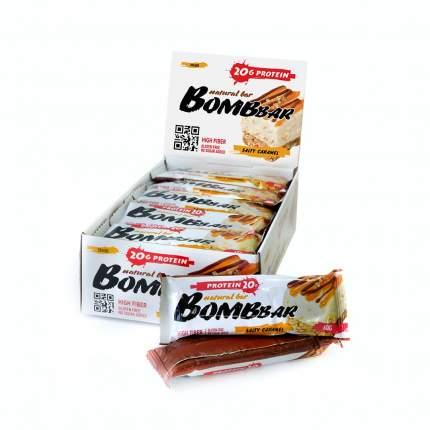 Батончик Bombbar Natural Bar 20 60 г, 20 шт., соленая карамель