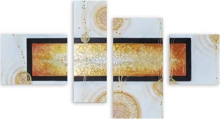 Картина модульная на холсте Модулка Плавленное золото 90х54 см