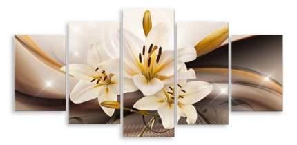 Картина модульная на холсте Модулка Три лилии 90х45 см