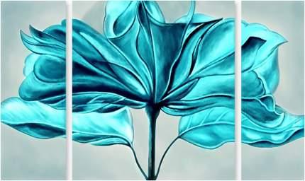 Картина модульная на холсте Модулка Голубой цветок 90х55 см