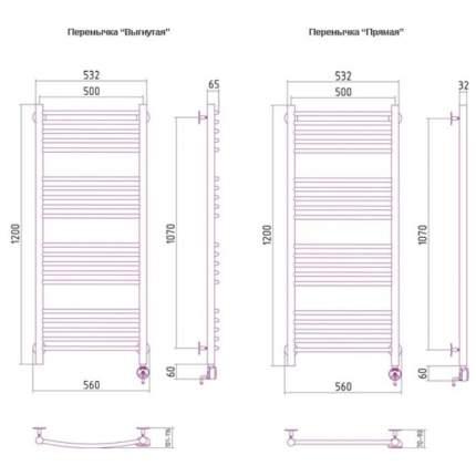 Электрический полотенцесушитель Сунержа Богема прямая 1200x500 ПТЭН