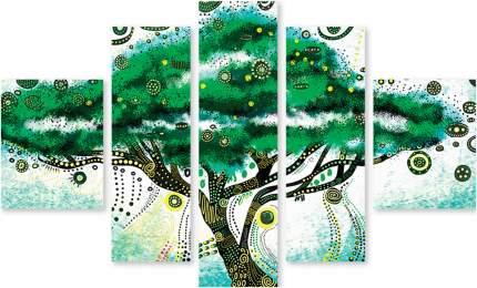 Картина модульная на холсте Модулка Зеленое дерево 90x58 см