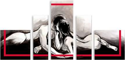 Картина модульная на холсте Модулка Поцелуй 90x48 см