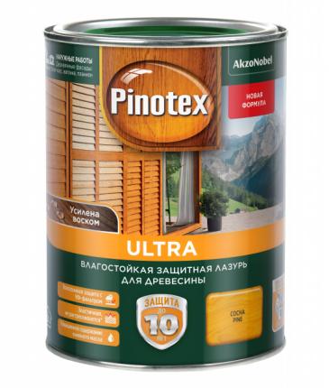 Пропитка для защиты древесины Pinotex Ultra Красное дерево 1л