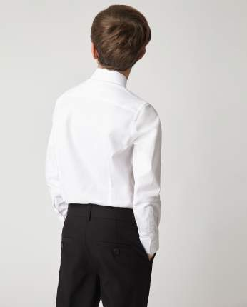 Белая рубашка Gulliver 220GSBC2316, размер 164