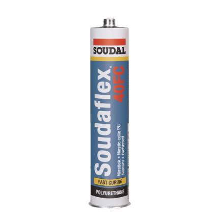 Быстроотверждающийся  полиуретановый клей-герметик SOUDAL SOUDAFLEX 40FC артикул 137854