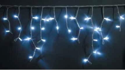 Гирлянда электрическая Мастерская Деда Мороза Светодиодная бахрома 3м*0,5м цвет белый