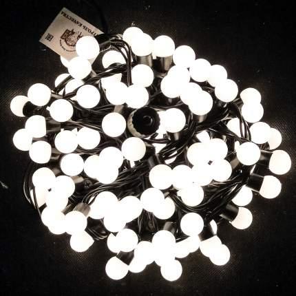 Гирлянда электрическая Мастерская Деда Мороза Мультишарики d-18мм 10м цвет белый