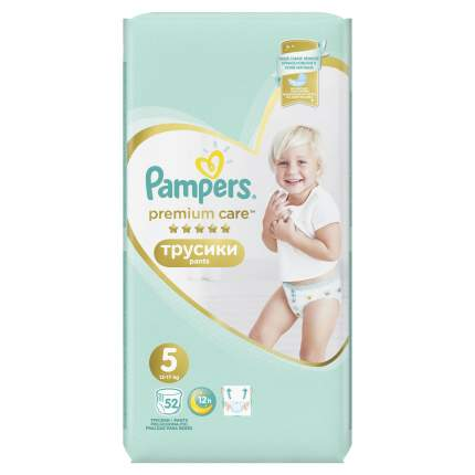 Трусики Pampers Premium Care 5 (12-17 кг), 52 шт.