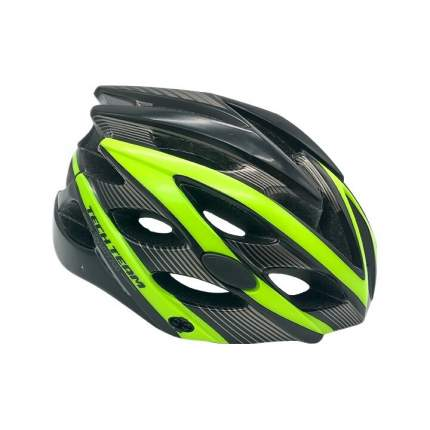 Шлем взрослый Tech Team  GRAVITY 700 зеленый объем 56-62см со стоп-сигналом