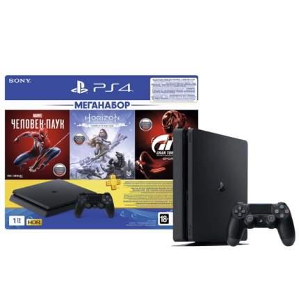 Игровая приставка Sony PlayStation 4 1TB GTS/HZD/SpiderM/PS+ 3мес. (CUH-2208B)