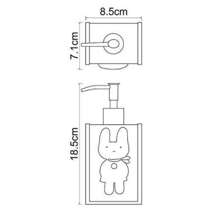 Дозатор для мыла WasserKRAFT Ammer K-6499