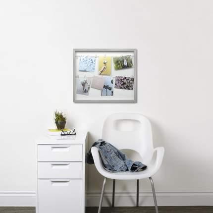 Панно с зажимами для 12 фотографий clothesline серое, Umbra