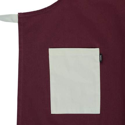 Фартук бордового цвета из коллекции Wild, 70х85 см