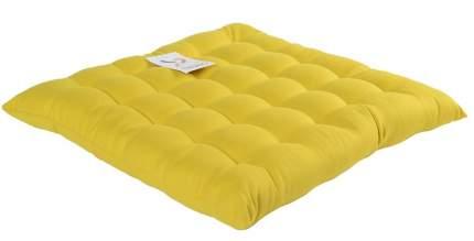 Подушка на стул горчичного цвета wild, 40х40 см, Tkano