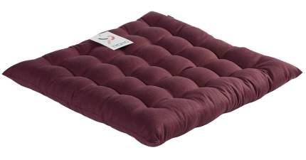 Подушка на стул бордовая wild, 40х40 см, Tkano