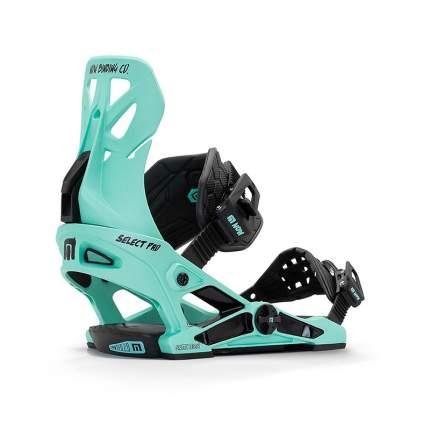 Крепление для сноуборда Now Select Pro 2021, зеленое, M