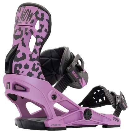 Крепление для сноуборда Now Conda 2021, фиолетовое, M