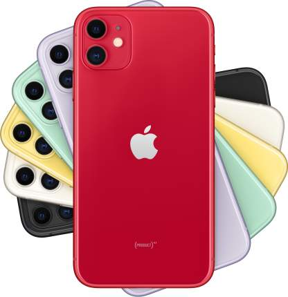Смартфон Apple iPhone 11 64GB с новой комплектацией (PRODUCT)RED (MHDD3RU/A)