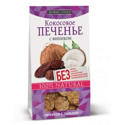 Кокосовое печенье Живые снеки с фиником 4*60 г