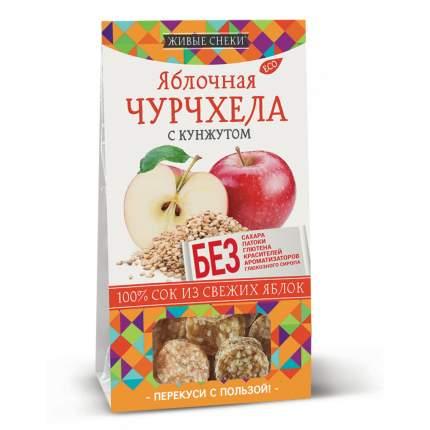 Чурчхела яблочная Живые снеки с кунжутом 4*90 г