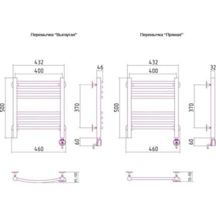 Электрический полотенцесушитель Сунержа Богема выгнутая 500x400 ПТЭН