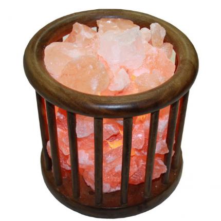 Соляная лампа абажур-корзина «Домашний Очаг»