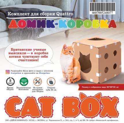 Домик-коробка для кошек EcoPet сборный Комплект для сборки Quattro, 1 куб