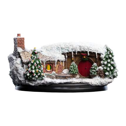 Фигурка в виде домика хоббита Weta Workshop The Hobbit: 35 Bagshot Row – Christmas