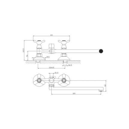 Смеситель универсальный Rossinka Silvermix Q02-80 хром