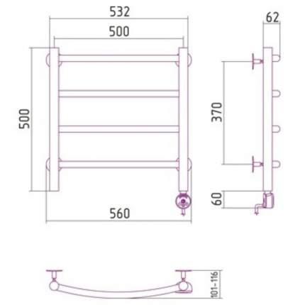 Электрический полотенцесушитель Сунержа Галант 500x500 ЛТЭН