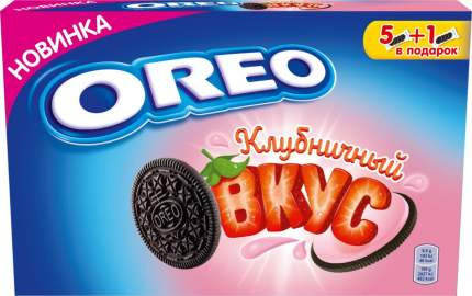 Печенье Oreo с какао и начинкой клубника 228 г