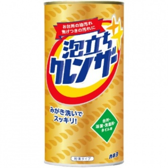 Пенящийся чистящий и полирующий порошок Kaneyo для кухни и ванны, банка 400 г