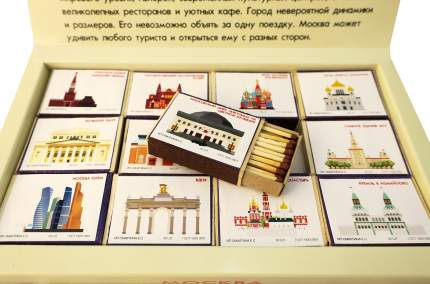 Сувенирный набор спичек Красный Маяк Москва