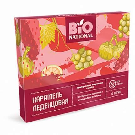 Карамель леденцовая с экстрактом гарцинии и виноградной косточки Bio National 32,5 г