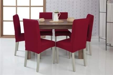 Чехол на стул без оборки Venera, бордовый, 1 предмет