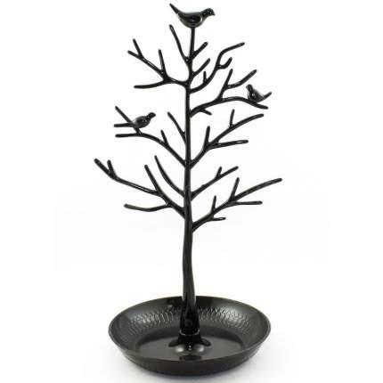 Подставка для украшений Птицы на дереве, черный, 15,5 х 15,5 х 32 см
