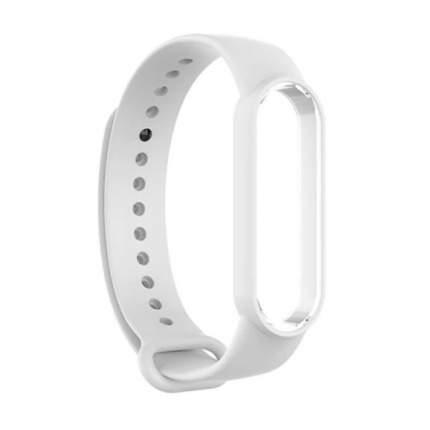 Ремешок NoName Silicone для смарт-браслета Xiaomi Mi Band 5 White