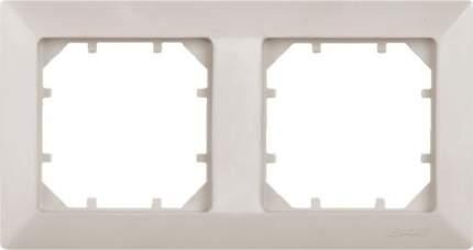 Рамка двойная Zakru CLASICO (цвет Слоновая Кость)