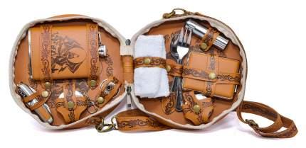 Подарочный туристический набор Фляга 230 мл 9 предметов Mashinokom PN-9DBE
