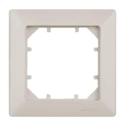 Рамка одинарная Zakru CLASICO (цвет Слоновая Кость)