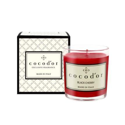 """Декоративная свеча для дома Cocodor """"Магия черной вишни"""""""