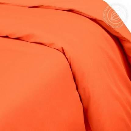 Пододеяльник из сатина (Оранжевый) евростандарт на молнии