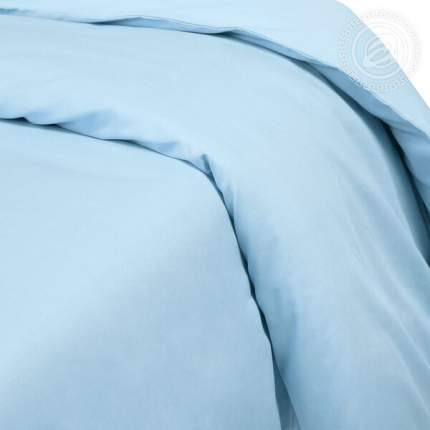 Пододеяльник из сатина (Голубой) евростандарт на молнии