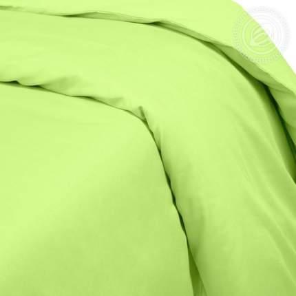 Пододеяльник из сатина (Салатовый) 2-спальный на молнии