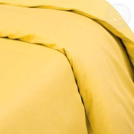 Пододеяльник из сатина (Жёлтый) 1,5-спальный на молнии