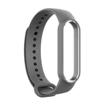 Ремешок для смарт-браслета NoBrand для Xiaomi Mi Band 5 Dark Grey